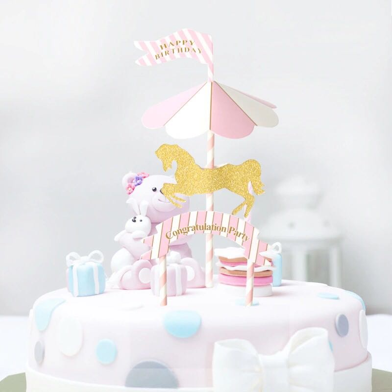 Pink Carousel Unicorn Party Supplies
