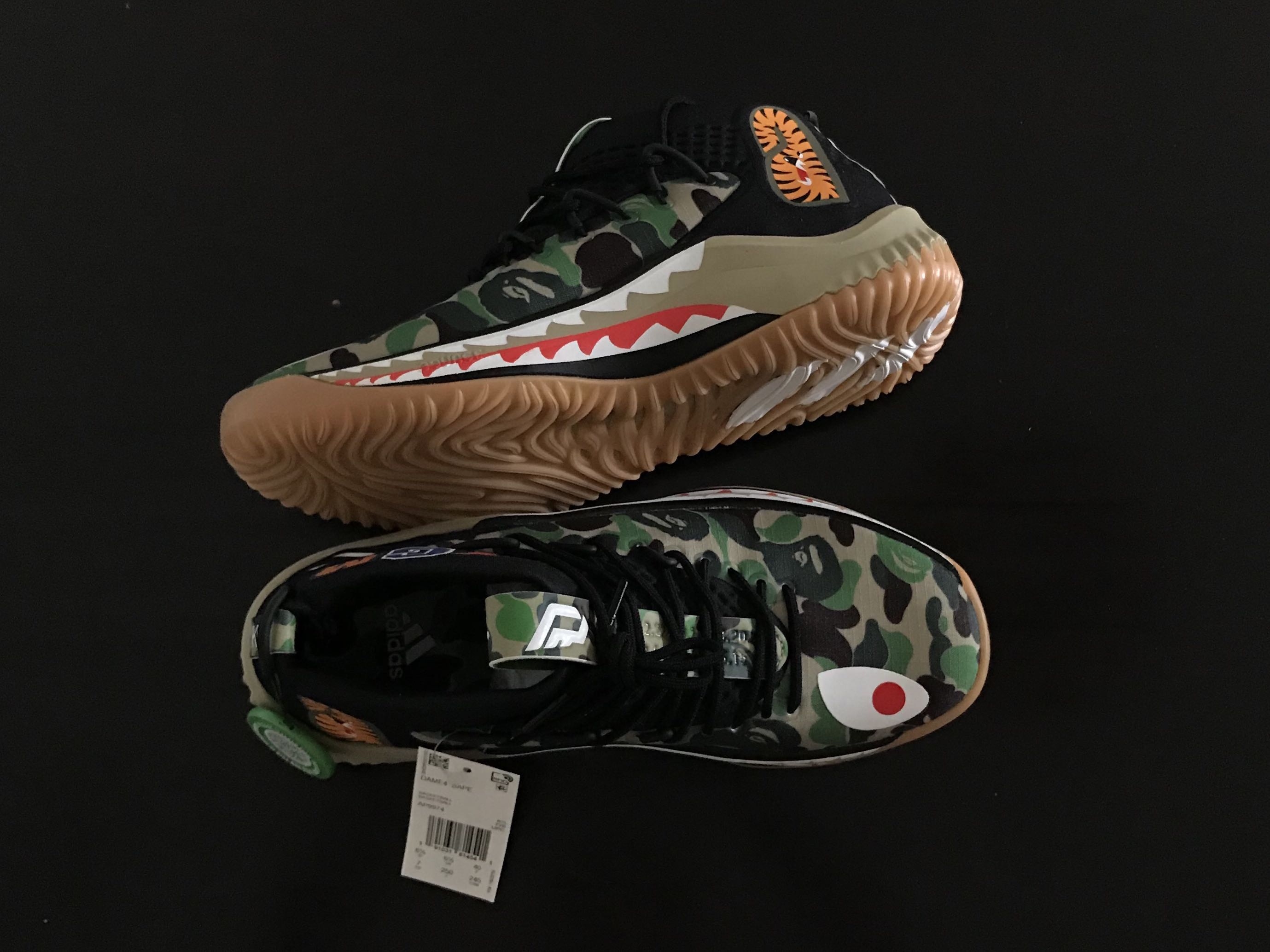 23b1d05c Adidas Dame4 Bape, Men's Fashion, Footwear, Sneakers on Carousell