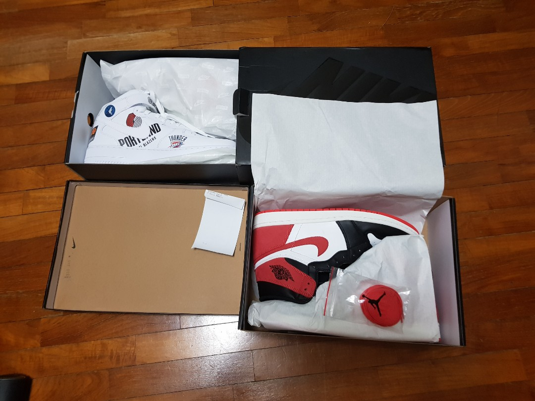 online store 50f1e 01a5d Air jordan 1 track red and air force 1 supreme