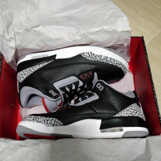 new styles d7d3f 53168 Air Jordan 3 Retro black cement