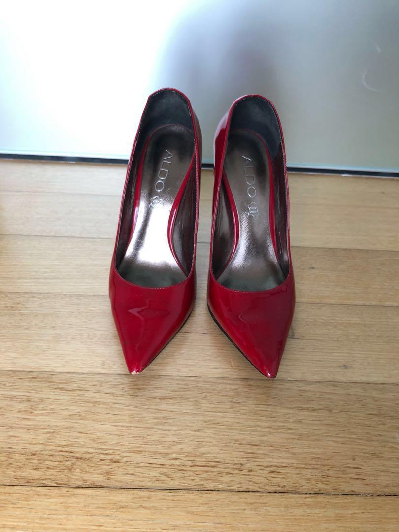 b767608e7bb ALDO red patent leather pumps