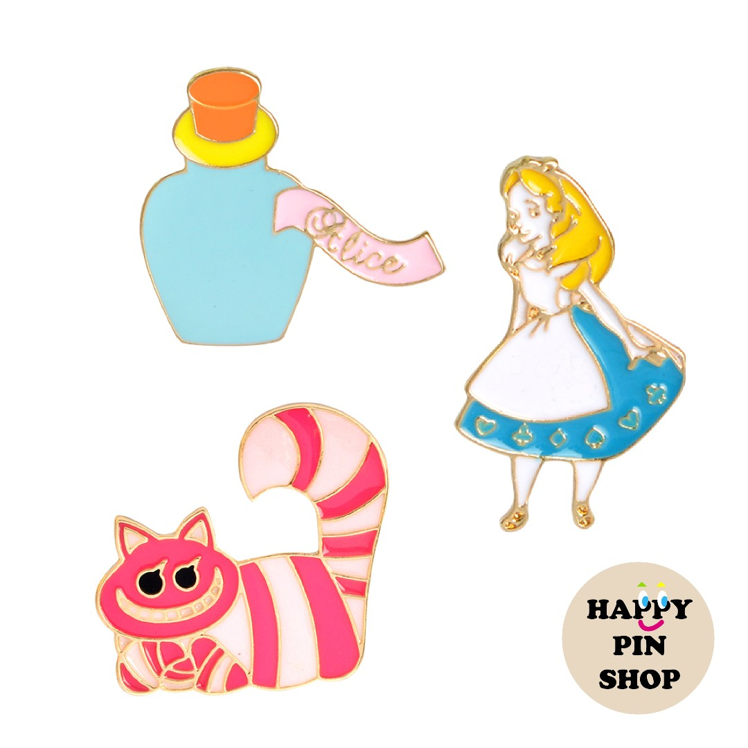Cheshire Cat Alice In Wonderland Enamel Pin Brooch Bag Jacket Backpack Cute Gift Brooches & Pins
