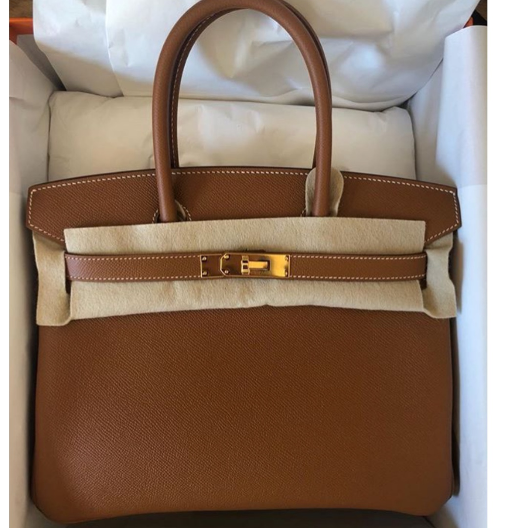 04fde5f32ea6 Authentic Hermes birkin 30 gold epsom ghw stamp C