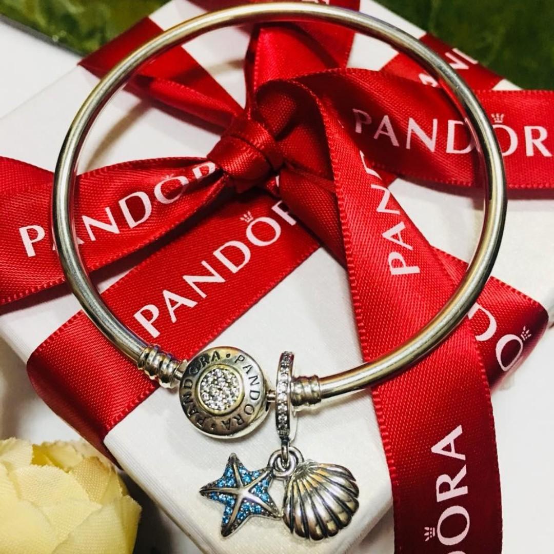405bce06a Authentic Pandora Charm Tropical Starfish & Sea Shell Dangle Charm ...