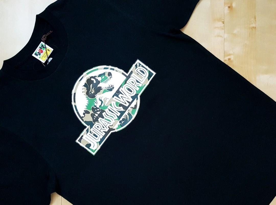 20635aa4 Bape X Jurassic World Tee Shirt, Men's Fashion, Clothes, Tops on ...
