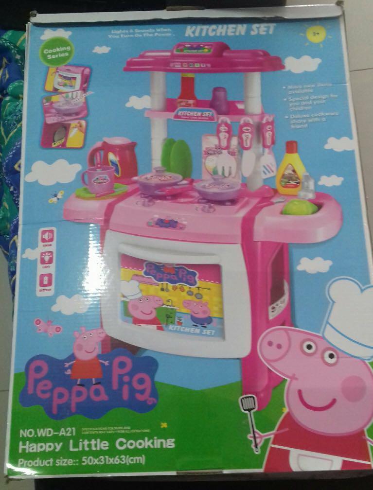 Big Peppa Pig Kitchen Set Babies Kids Toys Walkers On Carousell