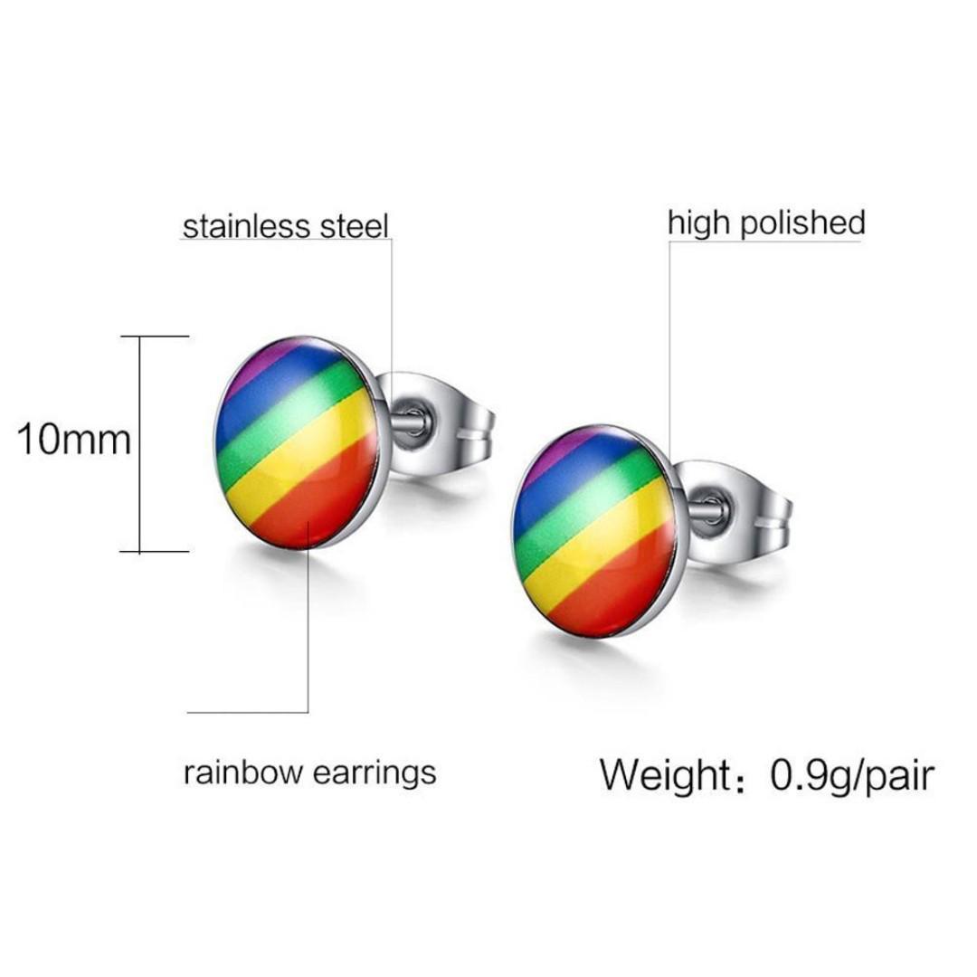 BN Charming Stainless Steel Ear Studs for Men Women [MJN103]
