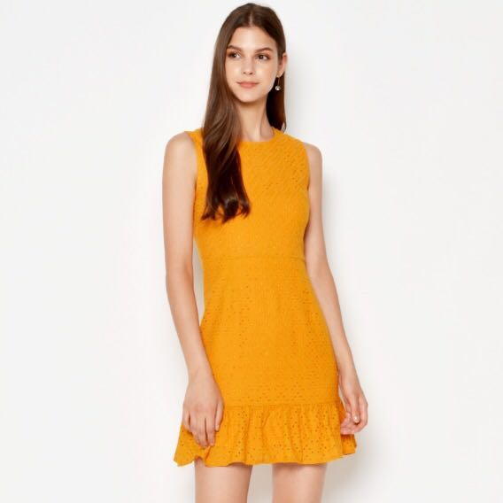 75c7f728020ed BNWT Loveandbravery Jonie Eyelet Dress Marigold, Women's Fashion ...