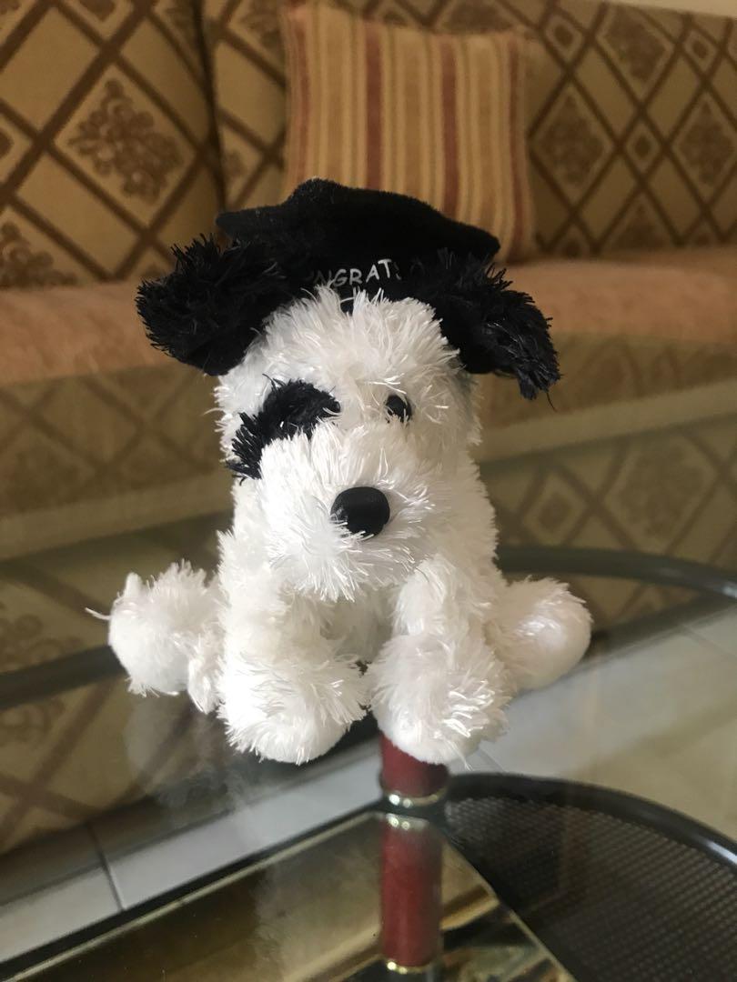 Boneka Wisuda anjing lucu kecil 8edf12e5b4