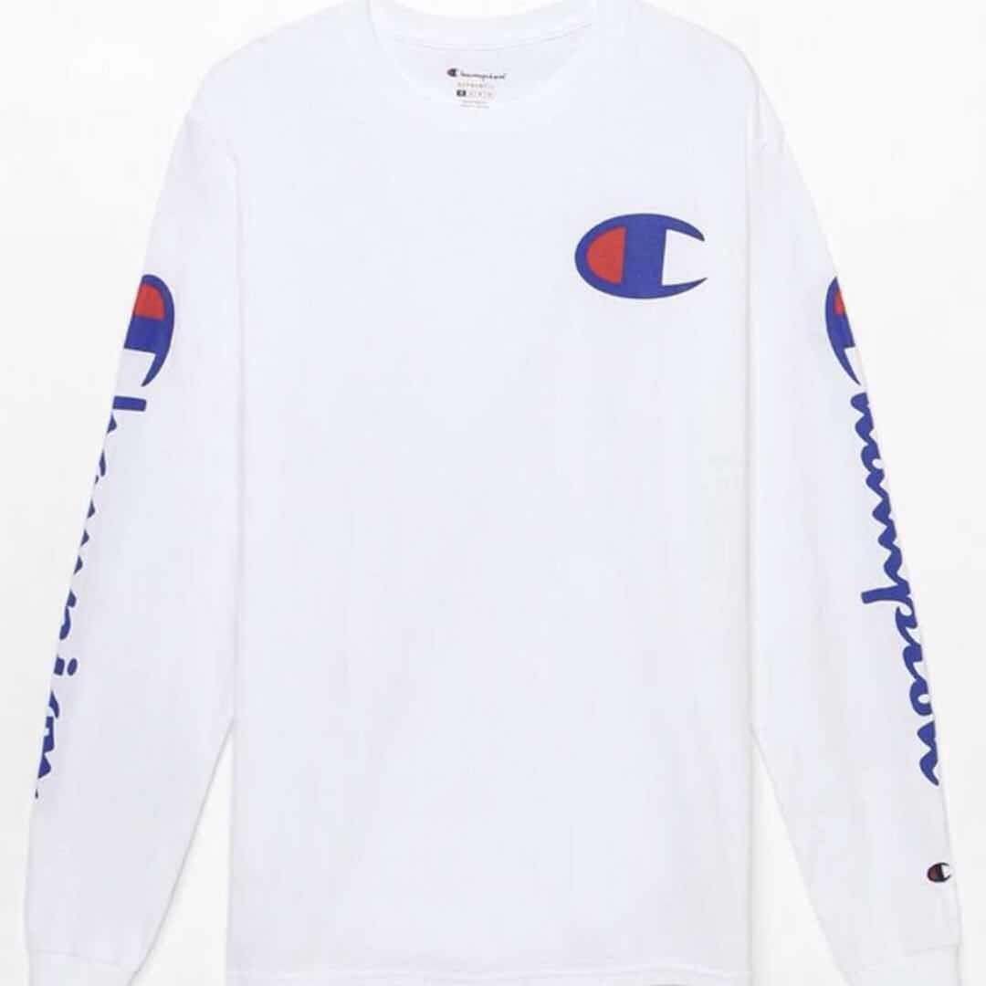 7d94cac433d8ba Champion Script Long Sleeve T-Shirt (print Logo), Men's Fashion ...