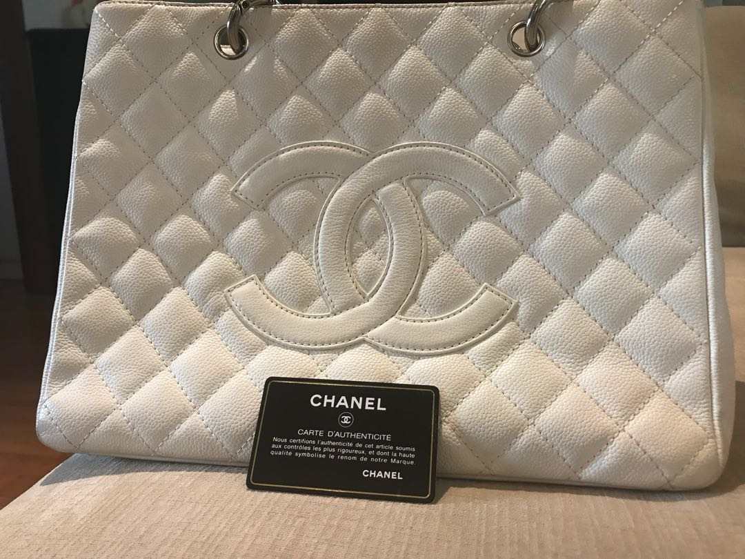 3271a5b01eb1 Chanel Grand Shopping Tote (GST) - white - guaranteed authentic ...