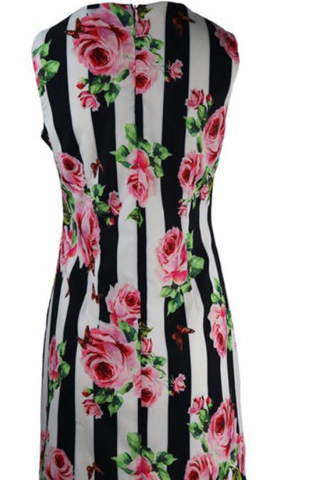 Designer Summer Floral Tunic Dress L/XL