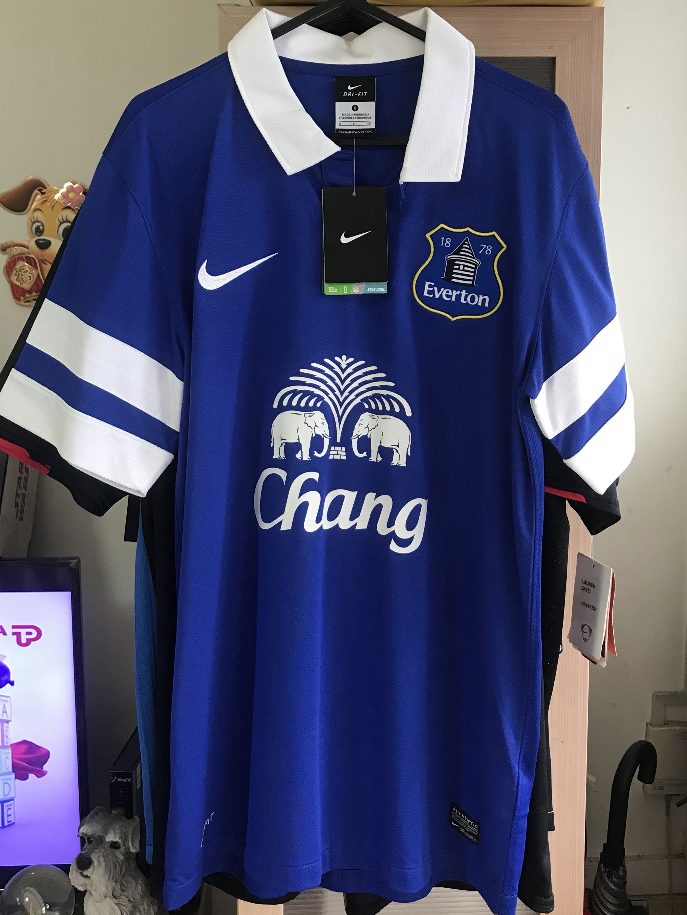 info for 1b59f 472a5 Everton Jersey Size S Player Issue