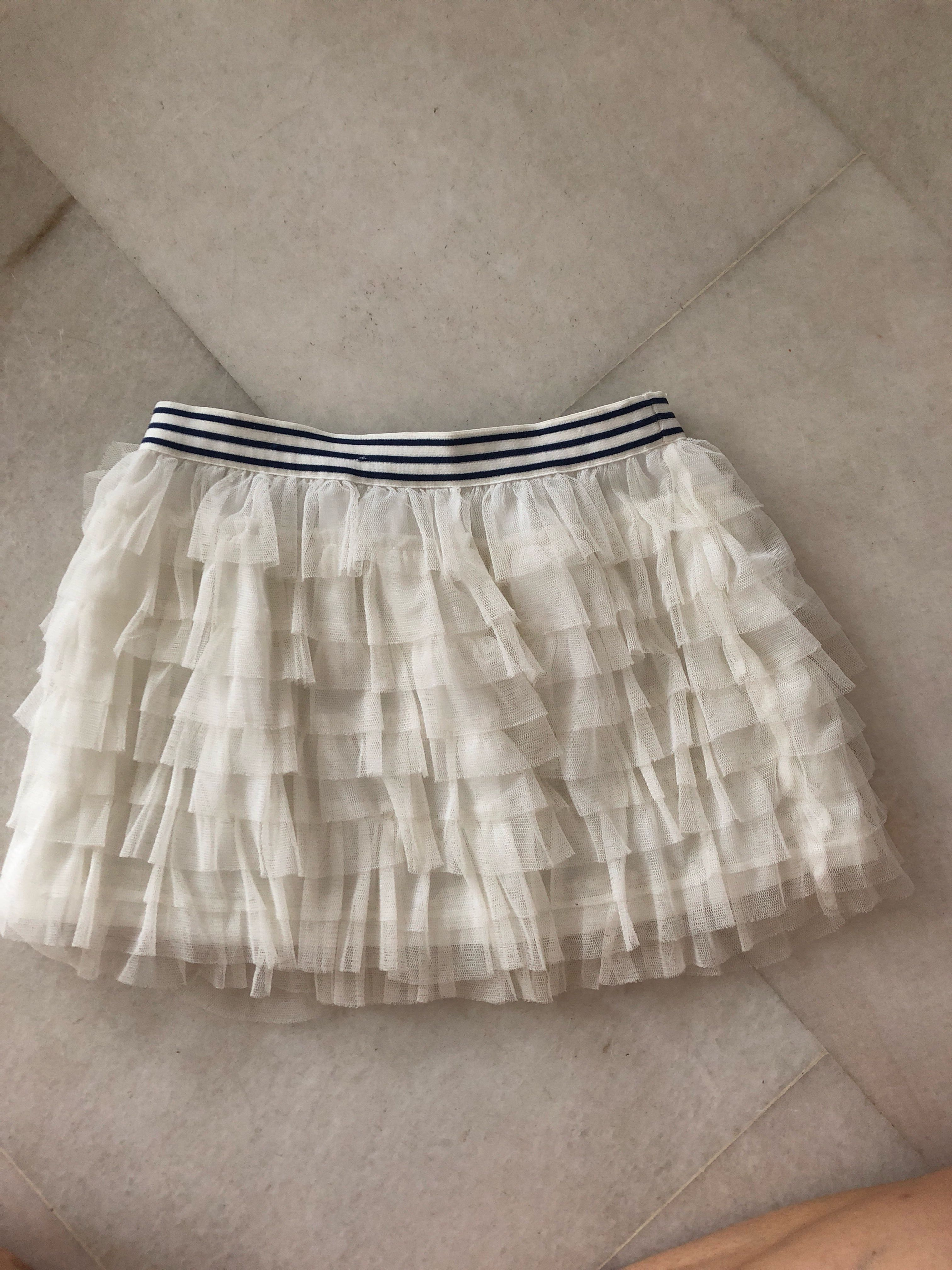 bb80ea8b1a60 Gingersnaps white tulle skirt size 6 used, Babies & Kids, Girls ...