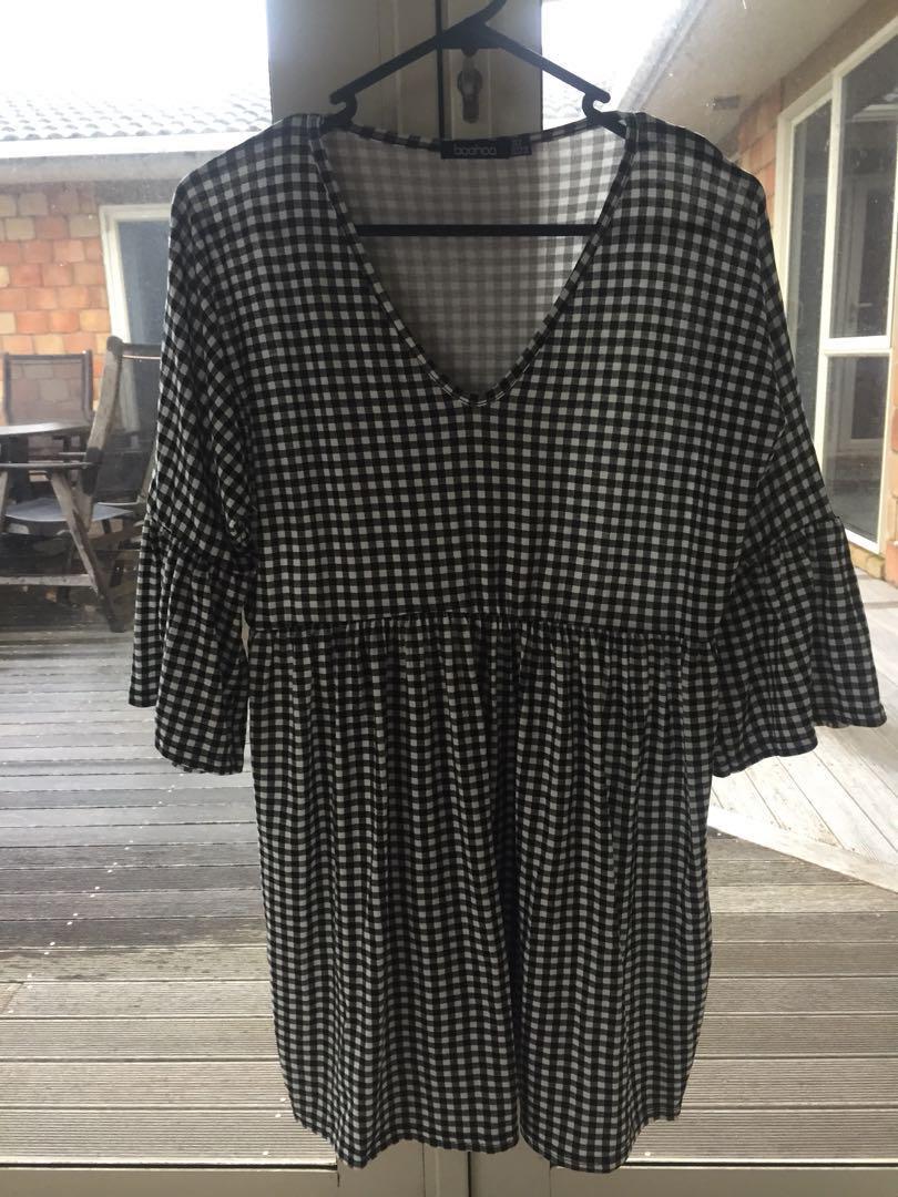 Gingham Boho Style Dress