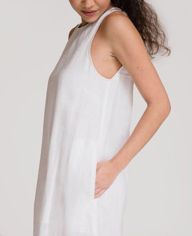 115858c881a GRANA French Linen A-line Dress