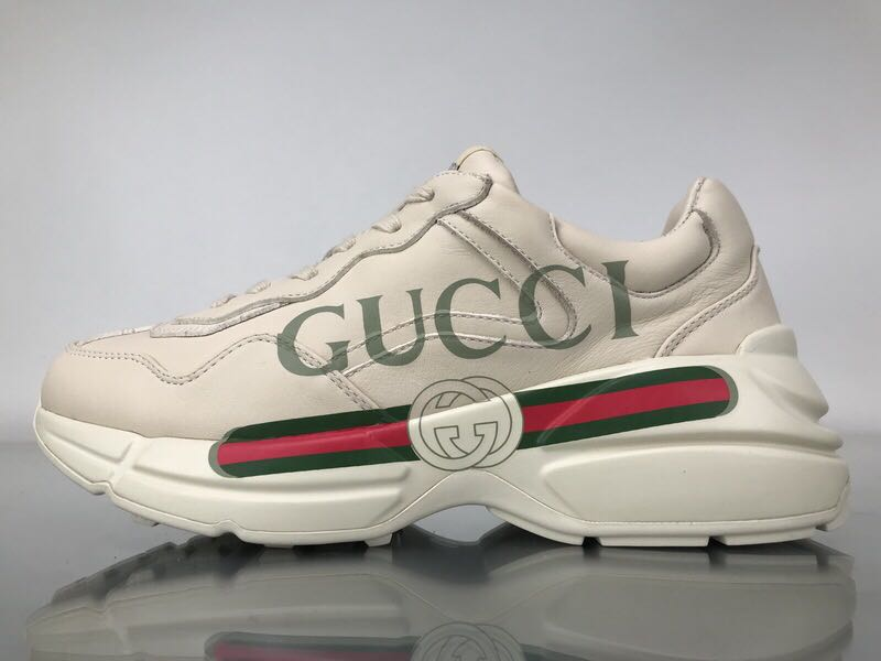 0f11704f3 Gucci Rhyton Logo Leather Sneaker, Men's Fashion, Footwear, Sneakers on  Carousell