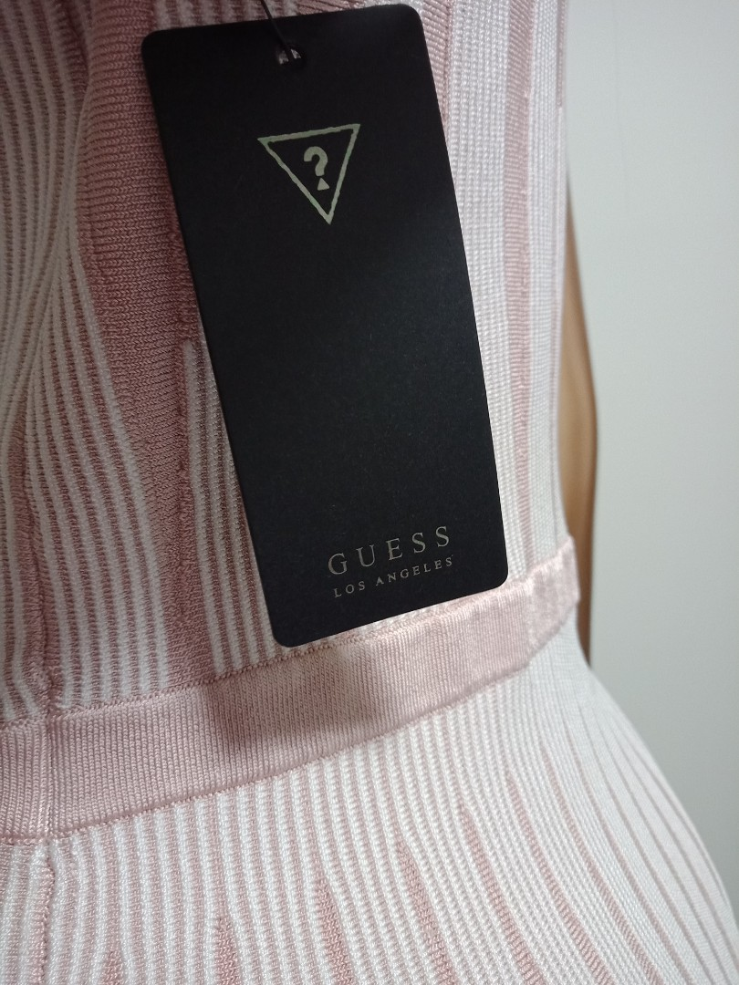 GUESS dress (M/12)  pink & white