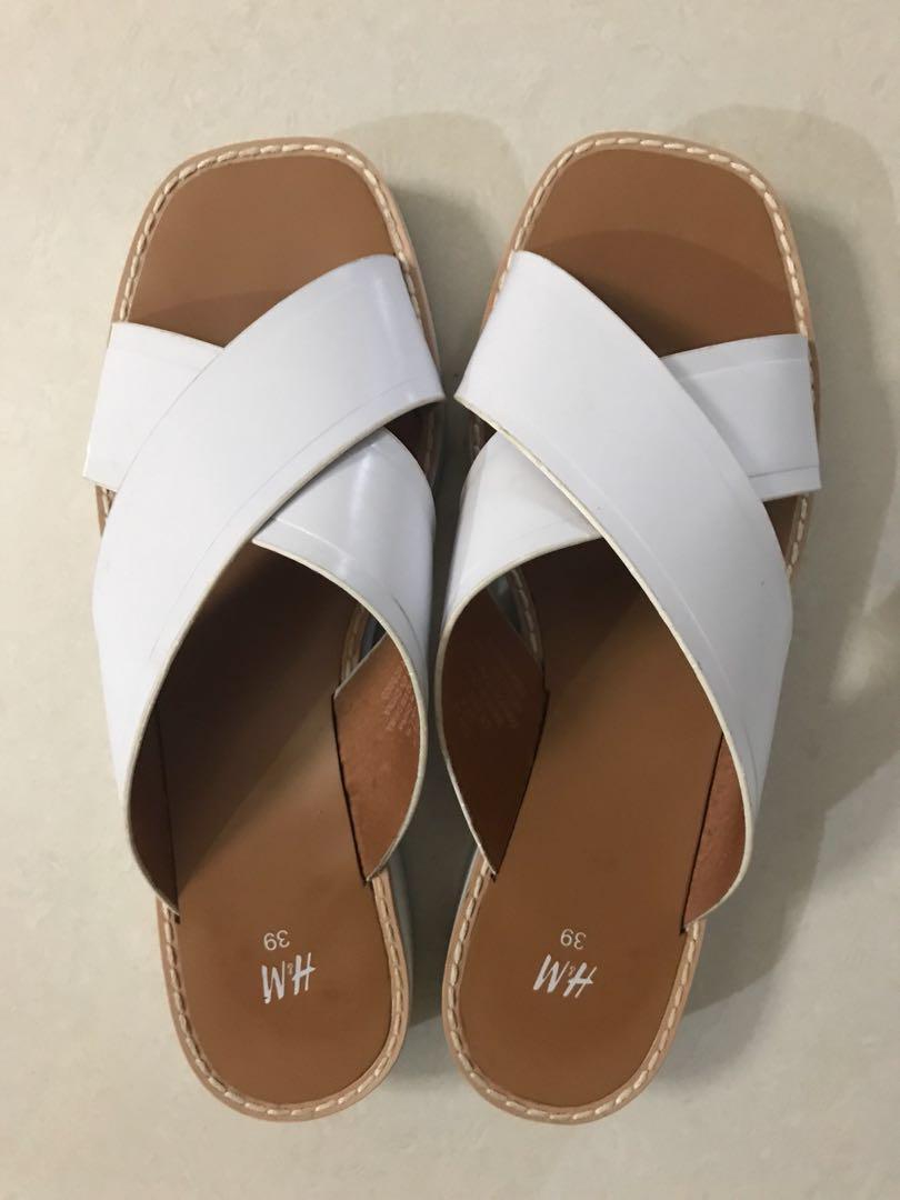 H\u0026M White Sandals, Women's Fashion
