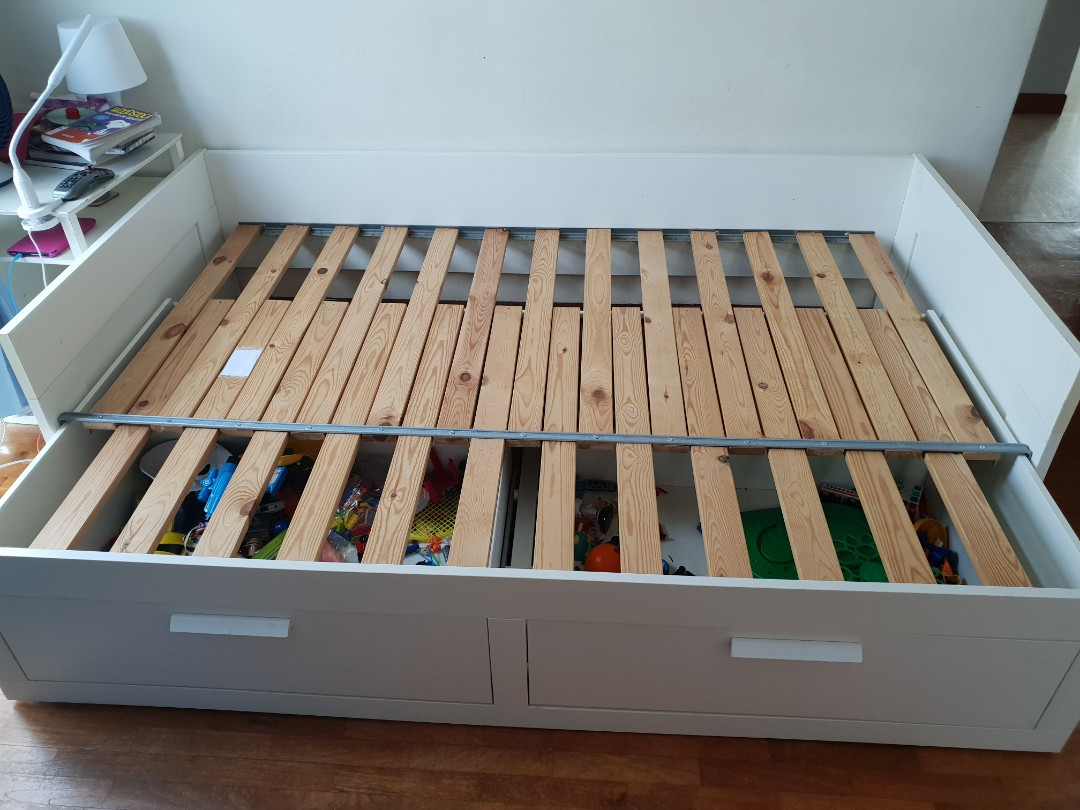 Ikea Brimnes Day Bed Furniture Beds Mattresses On Carousell
