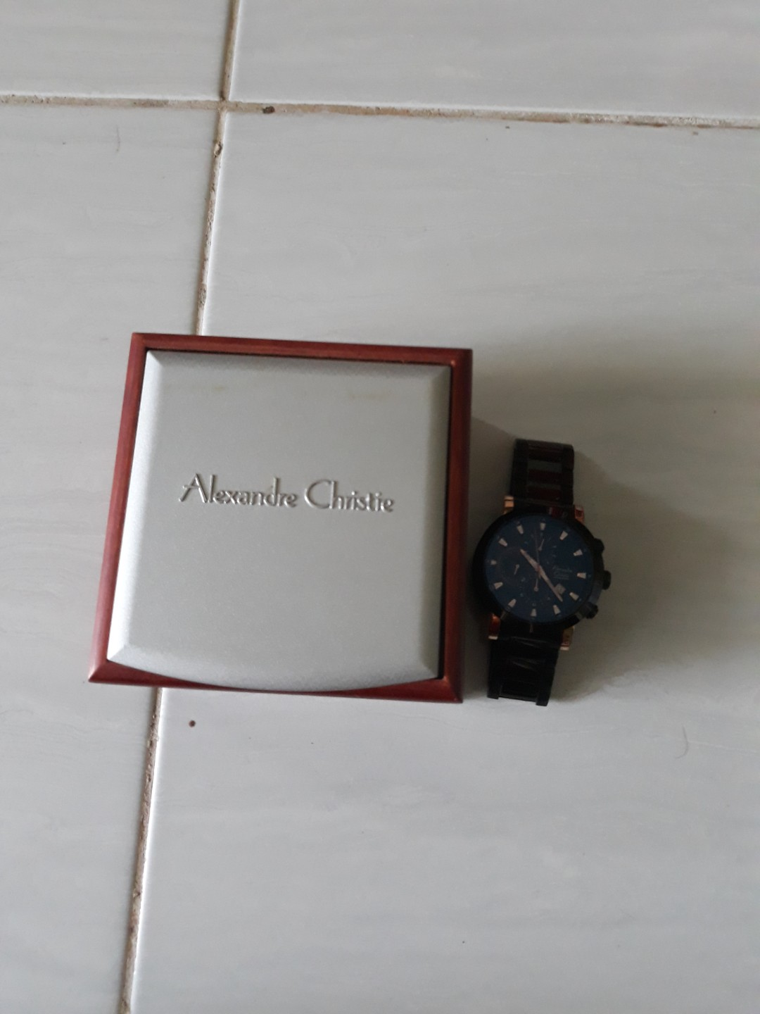Harga Jual Jam Tangan Expedition Bekas 850000 Harley Davidson Hd Pria 6631 Black Orange Triple Time Original Alexander Christie Preloved Fesyen Di Carousell