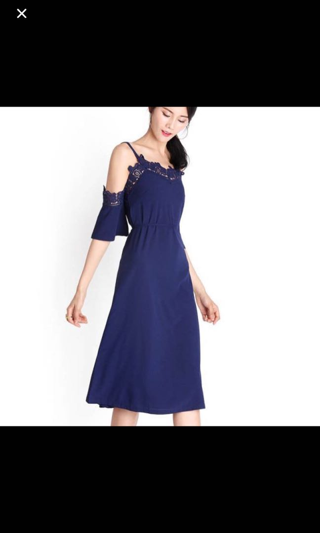 c894214a35d0 Lilypirates Off Shoulder Dress in midnight blue, Women's Fashion ...