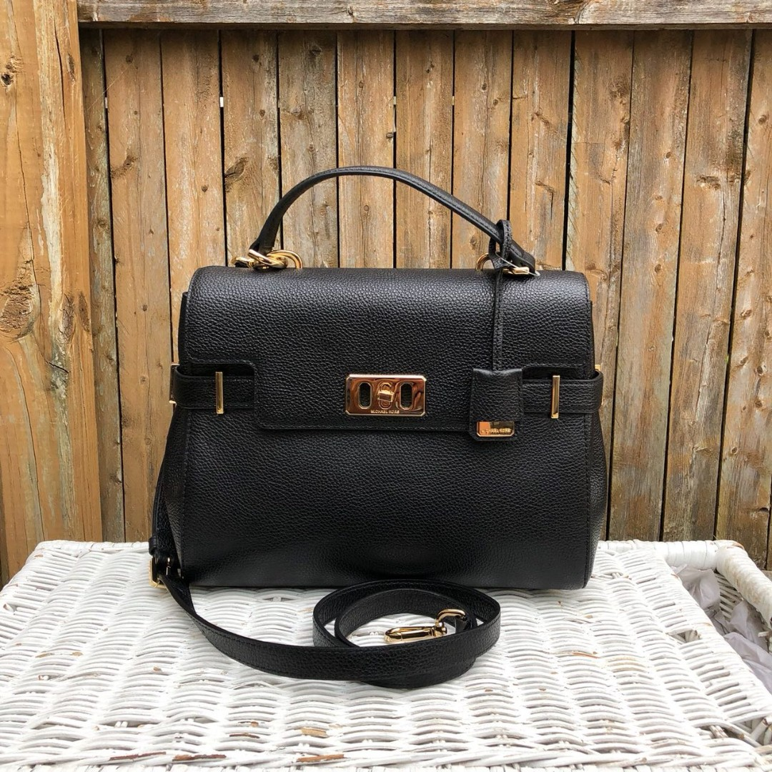 4e1aa1915679 Michael Kors Karson Medium Top Handle Satchel in Black, Women's Fashion,  Bags & Wallets, Handbags on Carousell