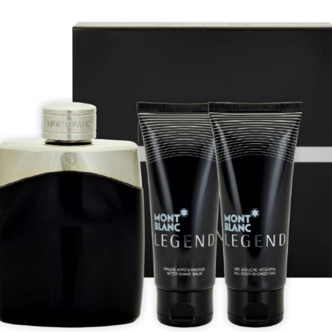 Authenticmont Blanc Legend Eau De Toilette 100ml 3 Piece Set Parfum Original Mont For Men Photo