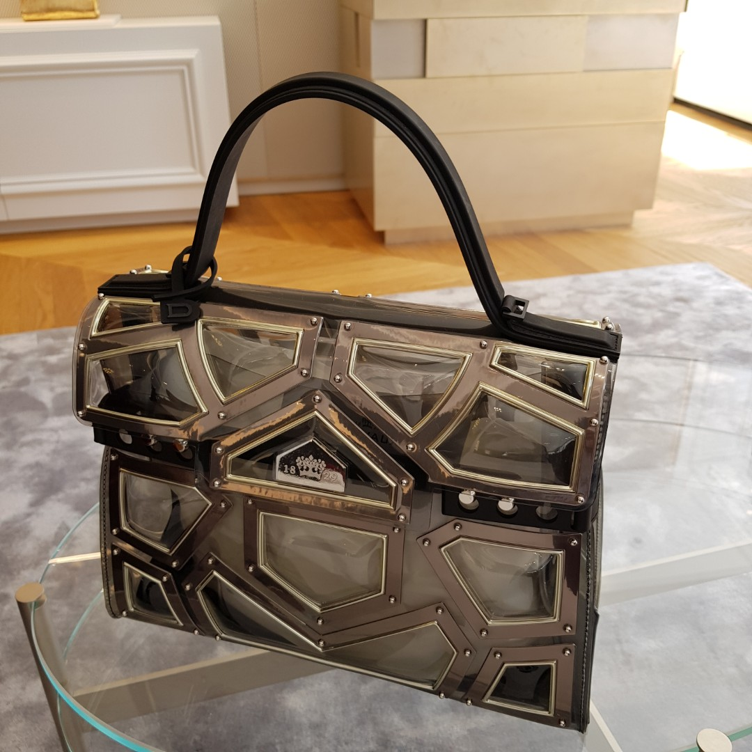 Limited Edition New Delvaux Tempete Gm Gladiator With Metallic Black Canvas Strap Luxury Bags Wallets Handbags On Carou