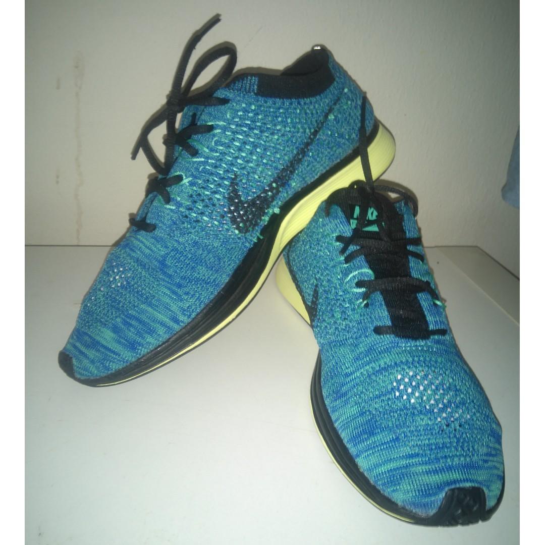 meet 663a7 1c716 Nike Flyknit Racer (Blue Lagoon), Men s Fashion, Footwear, Others on ...