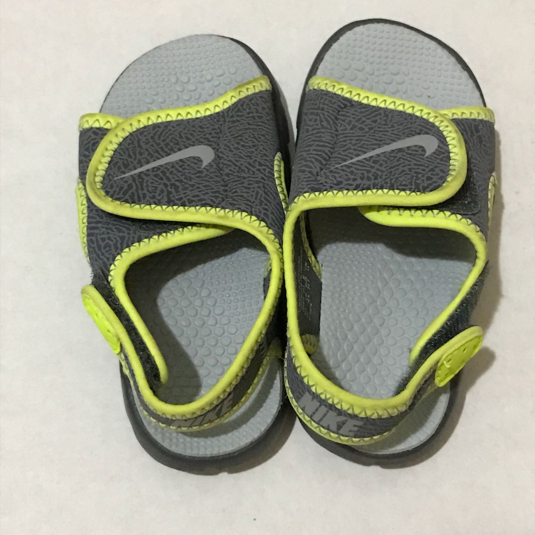 fe5f7483b63a9 ... cheapest nike green and gray velcro baby sandals babies kids babies  apparel on carousell 7061e 0a0fd