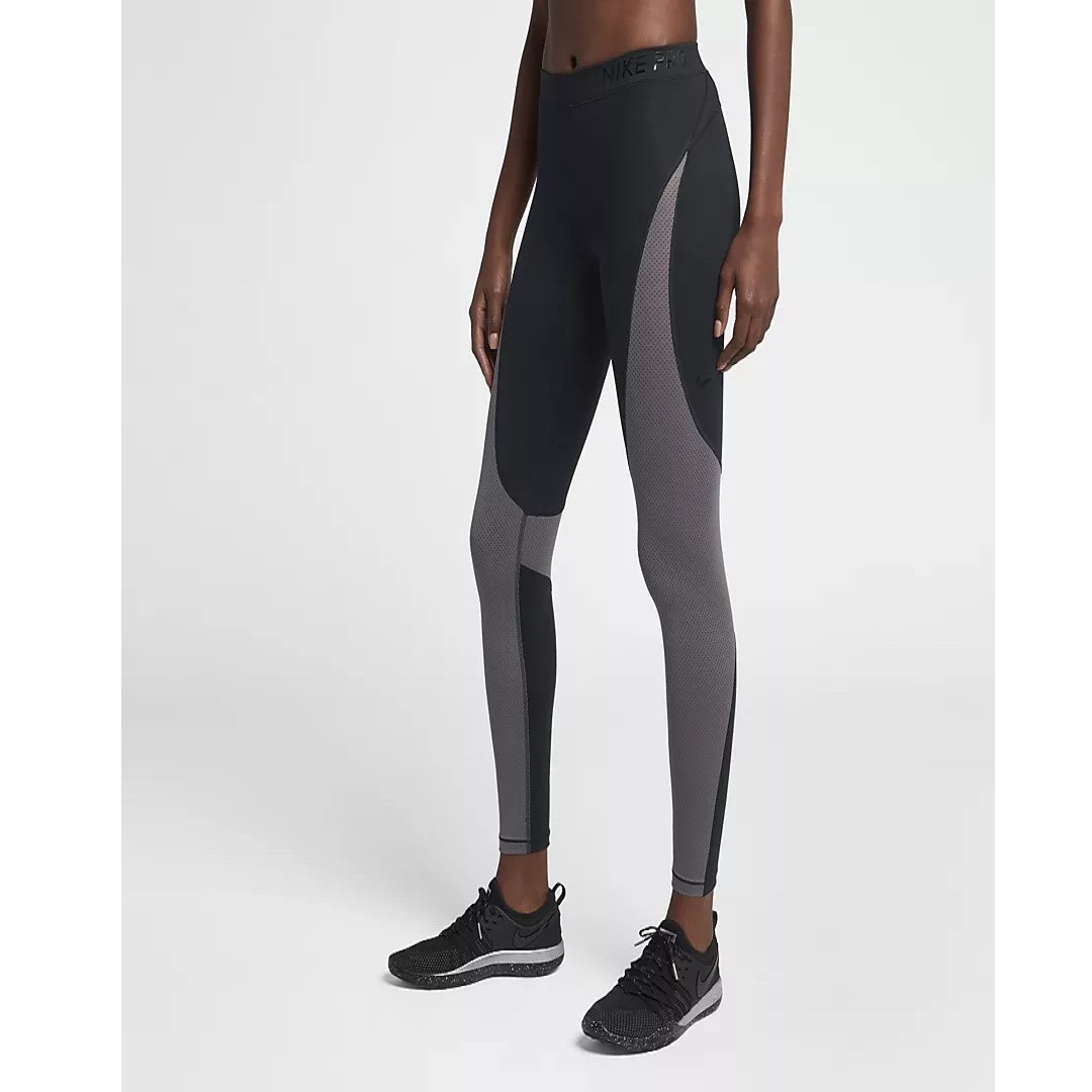 a3afb4b939084 Nike Pro HyperCool Women's Training Tights (Black/Gunsmoke/Clear ...