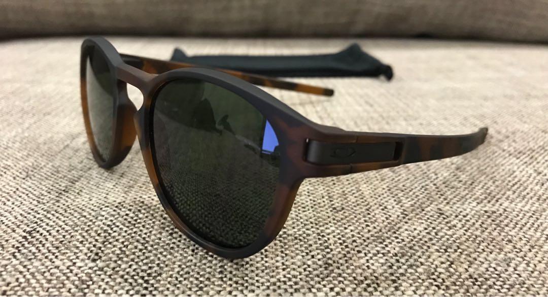 a222d8b854 ... cheap oakley latch matte brown tortoise dark grey mens fashion  accessories eyewear sunglasses on carousell da28e