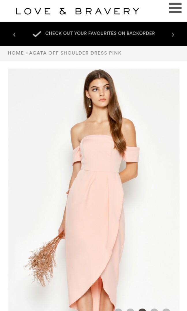 1151eeccdbf1 Off Shoulder Dress Pink