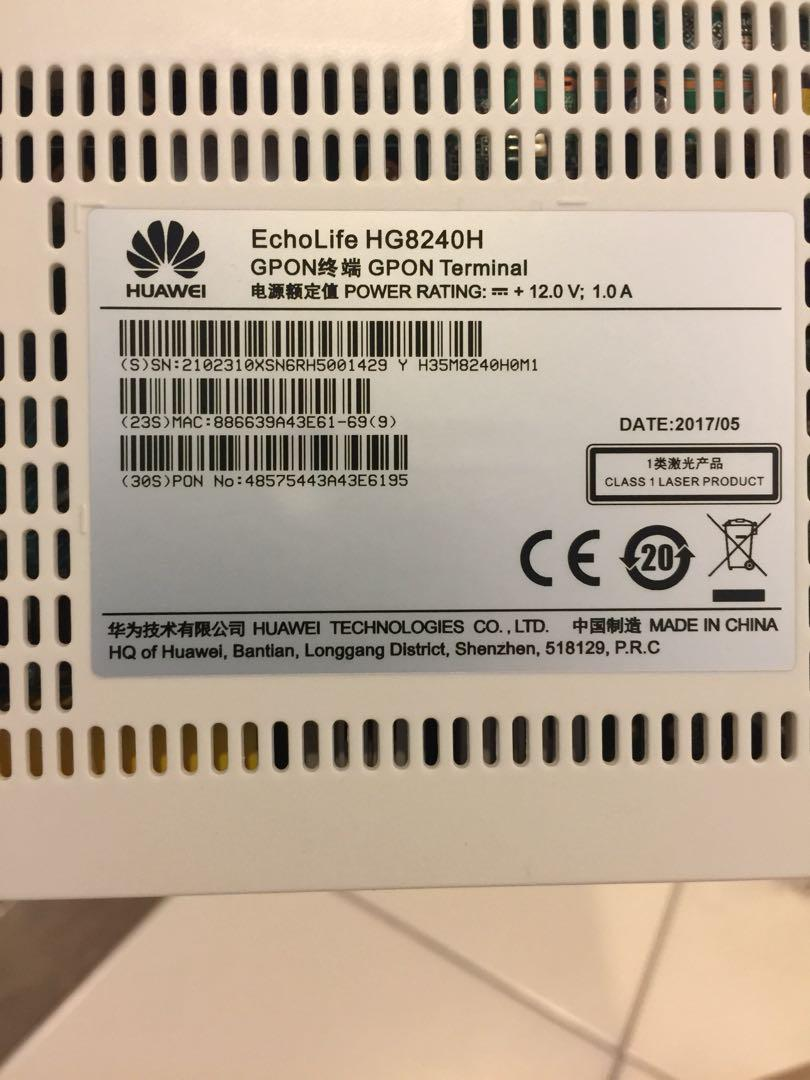 ONT Huawei HG8204H Fibre Internet M1, Electronics, Others on