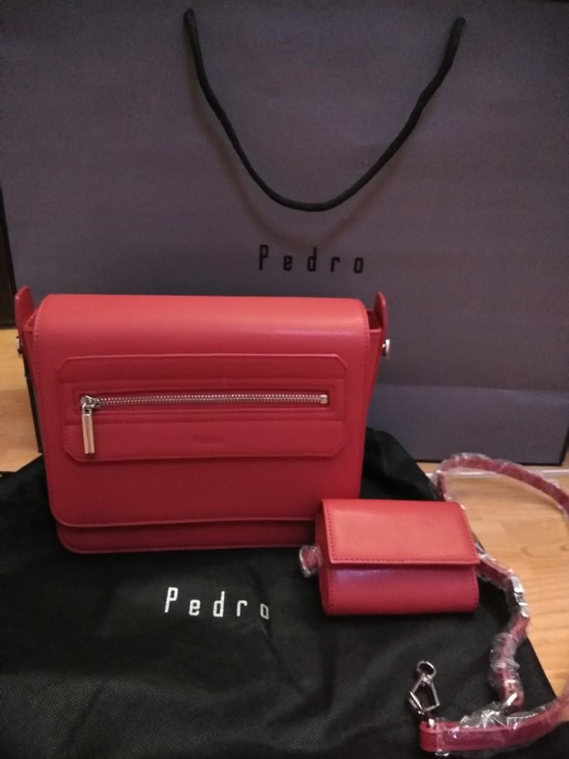 512b878d0a Pedro bag original   pedro shoulder bag authentic   red pedro bag ...