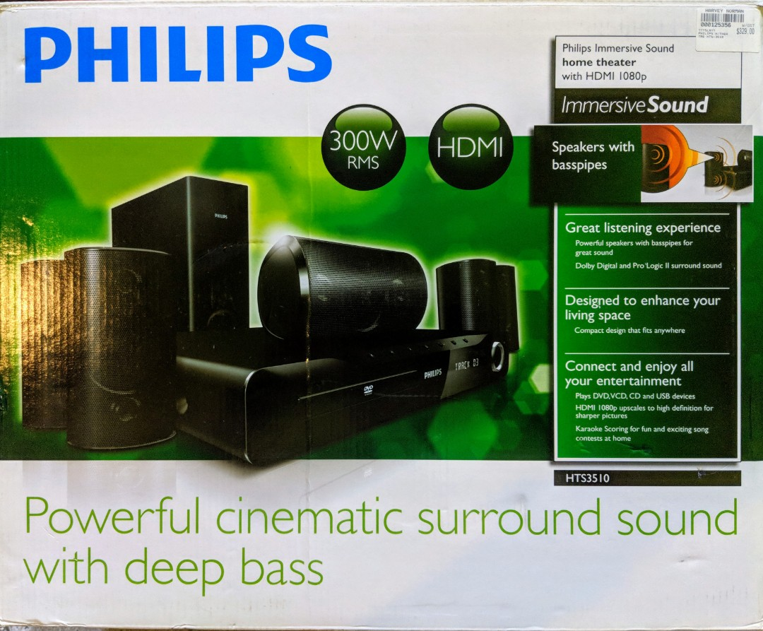 Philips Hts351098 Hdmi Dvd 51 Home Theatre System Electronics