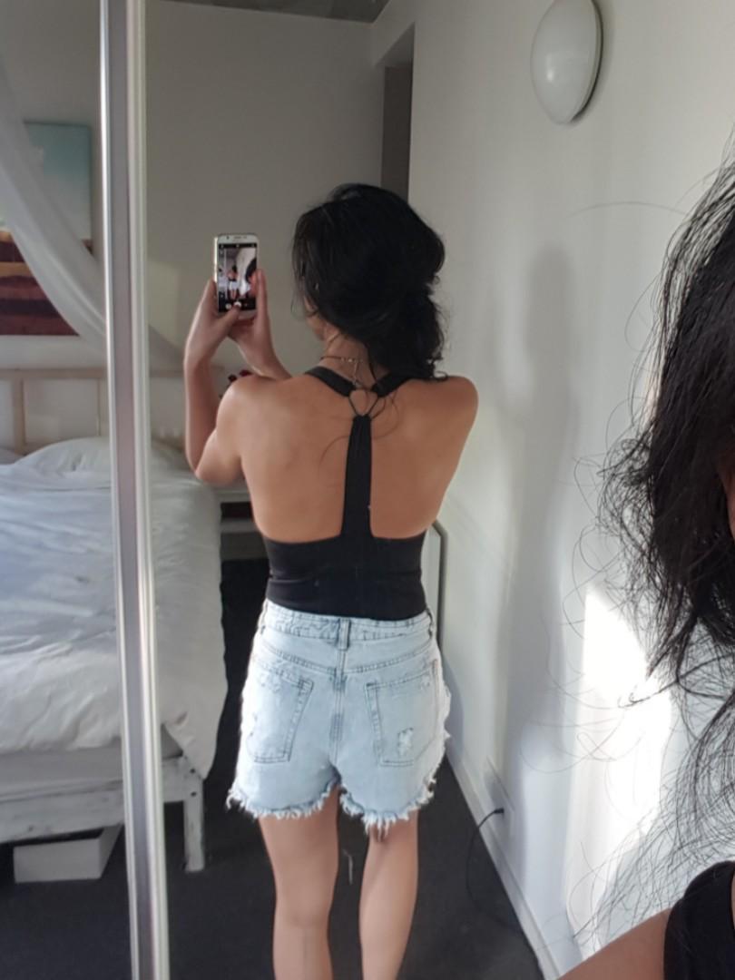 Plunge Bodysuit - Black