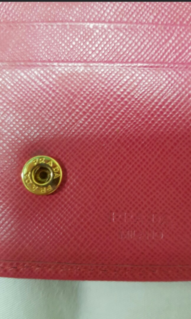 d0e432c62e6a prada pink wallet. giod condition. no tear and scuffings