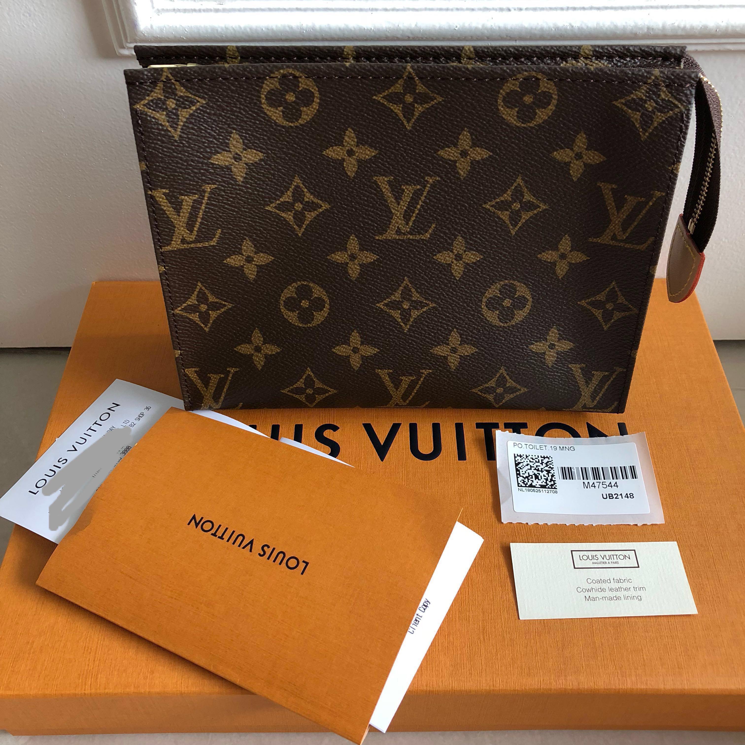 49049a3dc7b Rare 🌟Louis Vuitton Toiletry Pouch 19, Luxury, Bags & Wallets ...