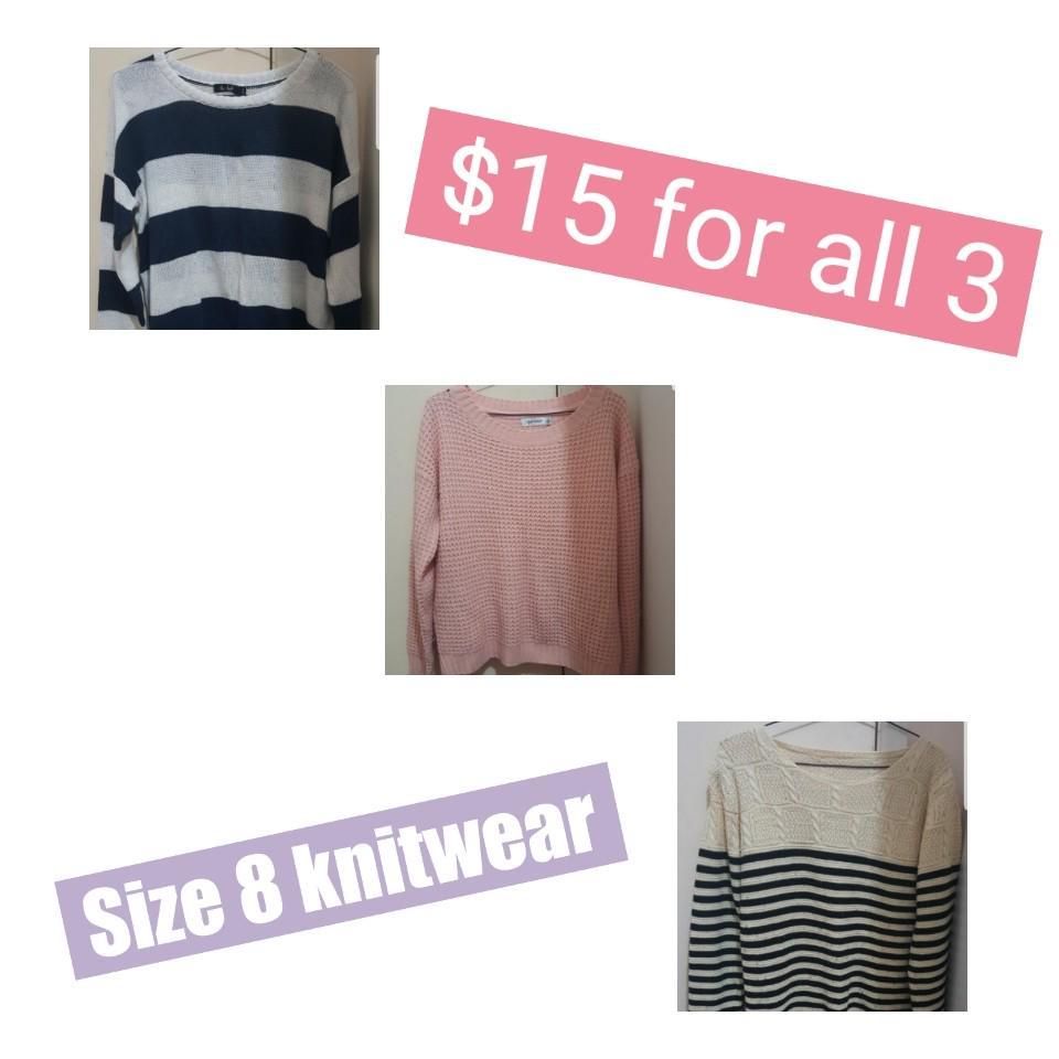 Size 8 knits