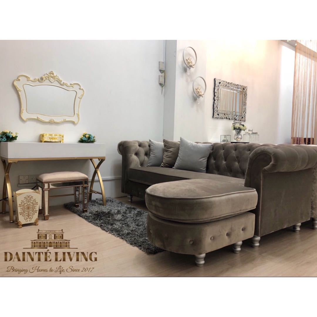 Special Offer Luxury Chesterfield Sofa With Ottoman Furniture