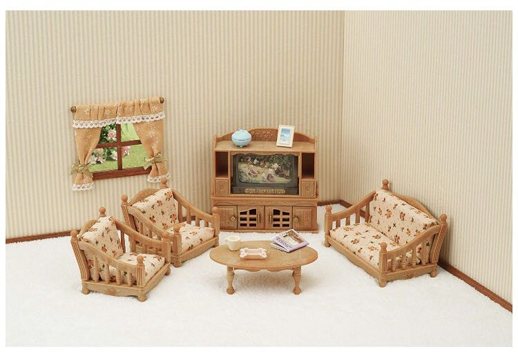 Sylvanian Families/Calico Critters New Living Room Set, Babies U0026 Kids, Toys  U0026 Walkers On Carousell
