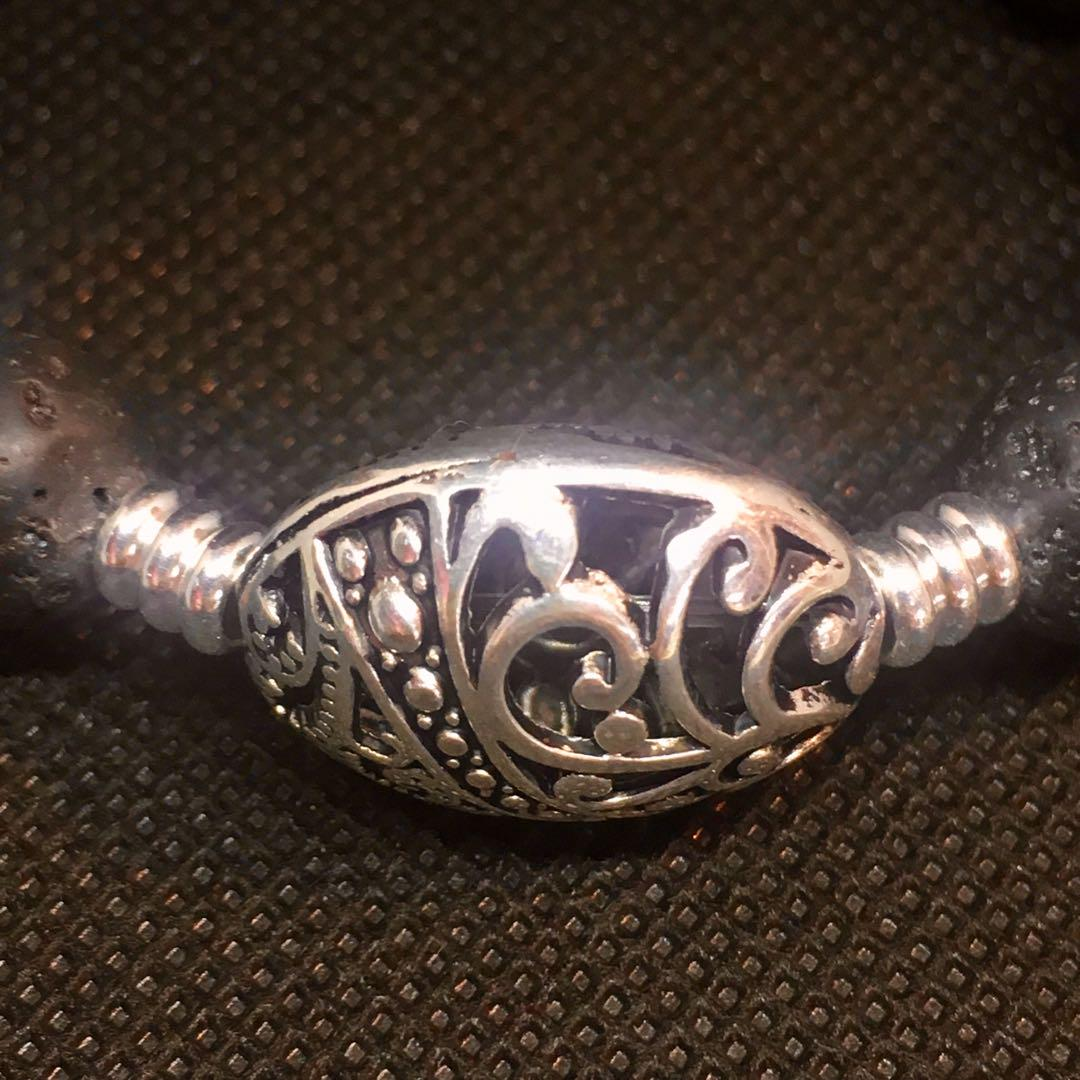 Unisex Bracelet hand made , Tibetan Silver Ellipse