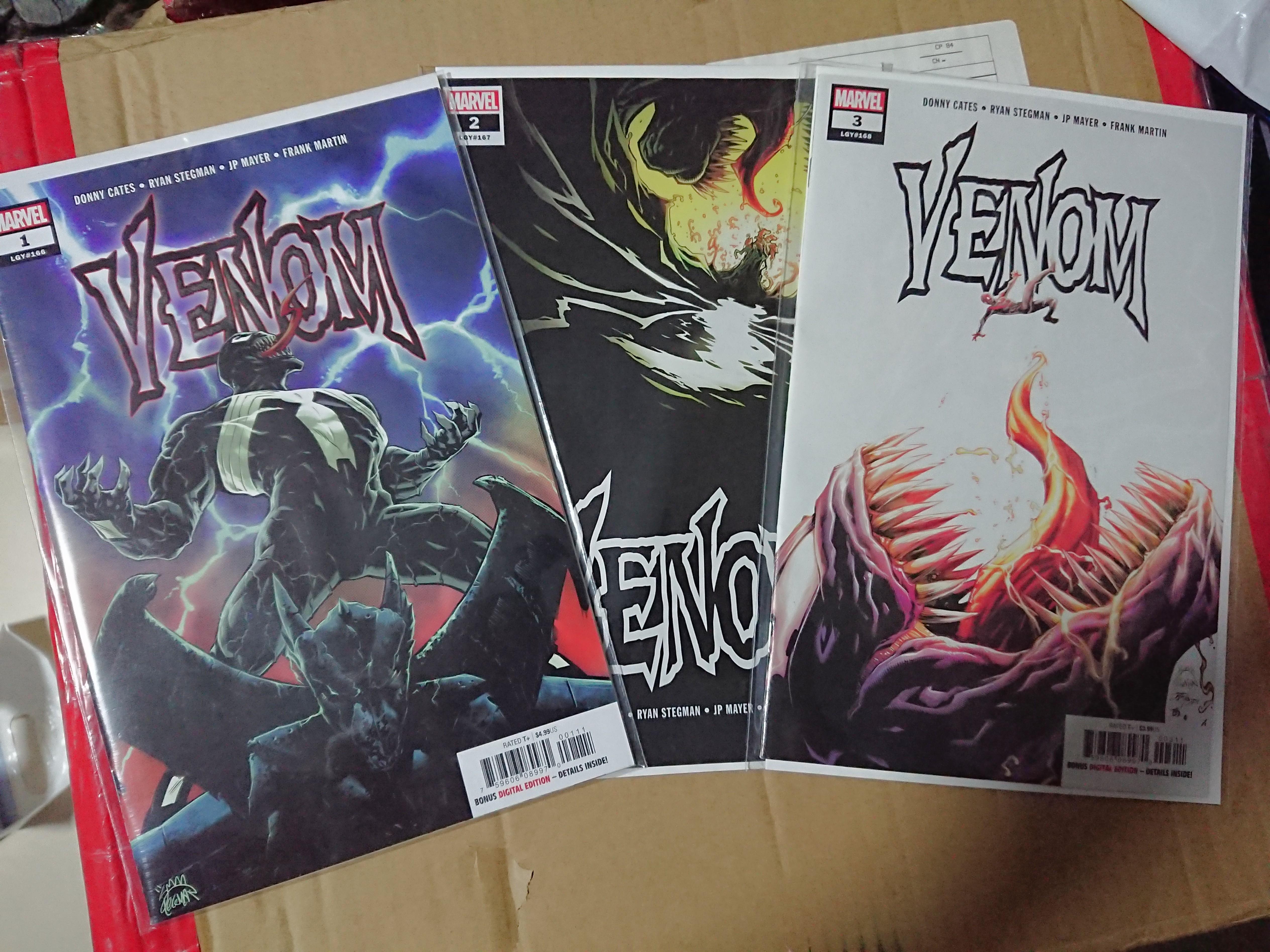 Marvel Venom 2018 comics Issue 1,2,3