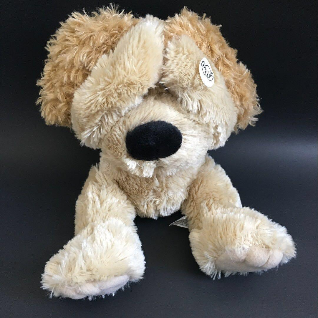 Wellington the Dog peekaboo plush