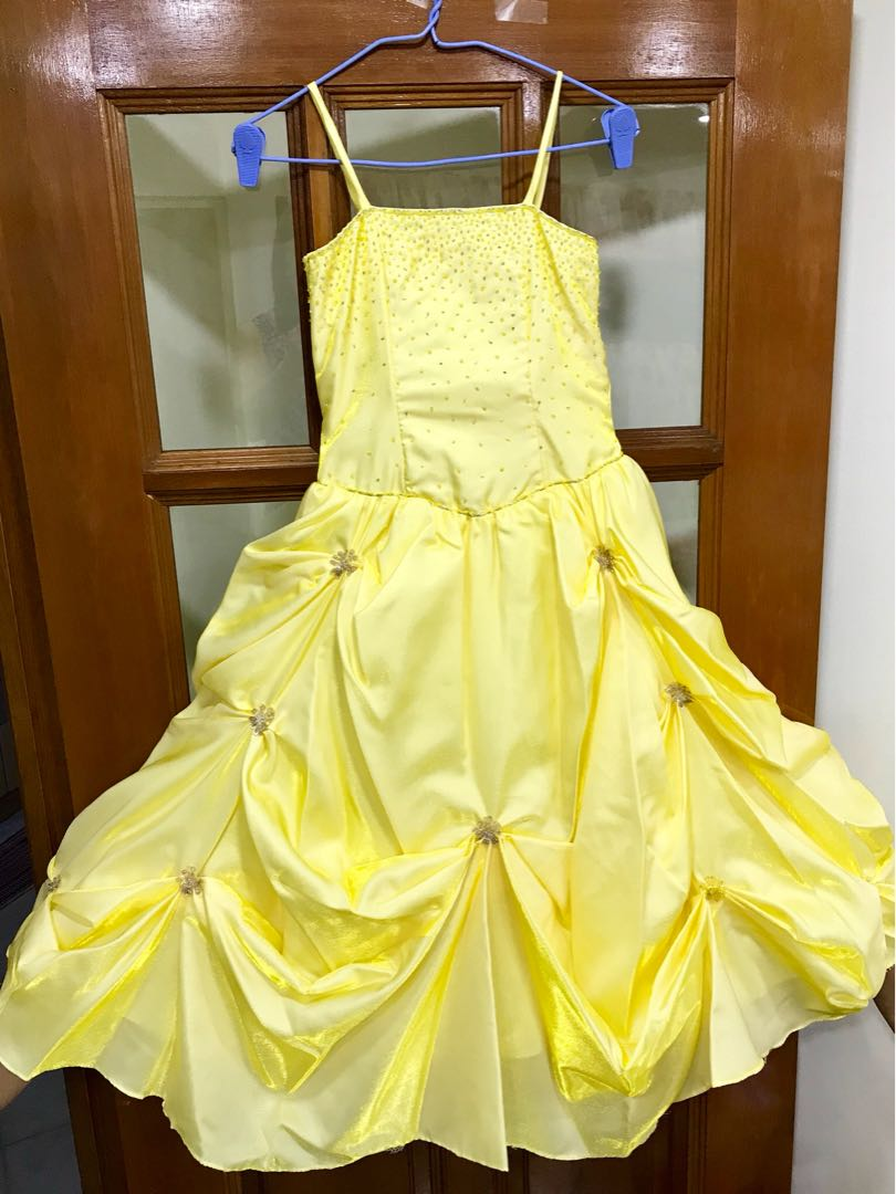 Yellow Gown For Kids Womens Fashion Clothes Dresses Skirts On