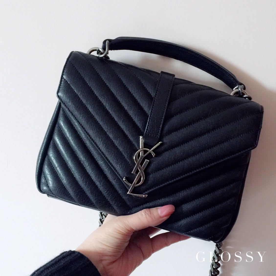 YSL Classic Medium College Bag in Black a0b98767d922c