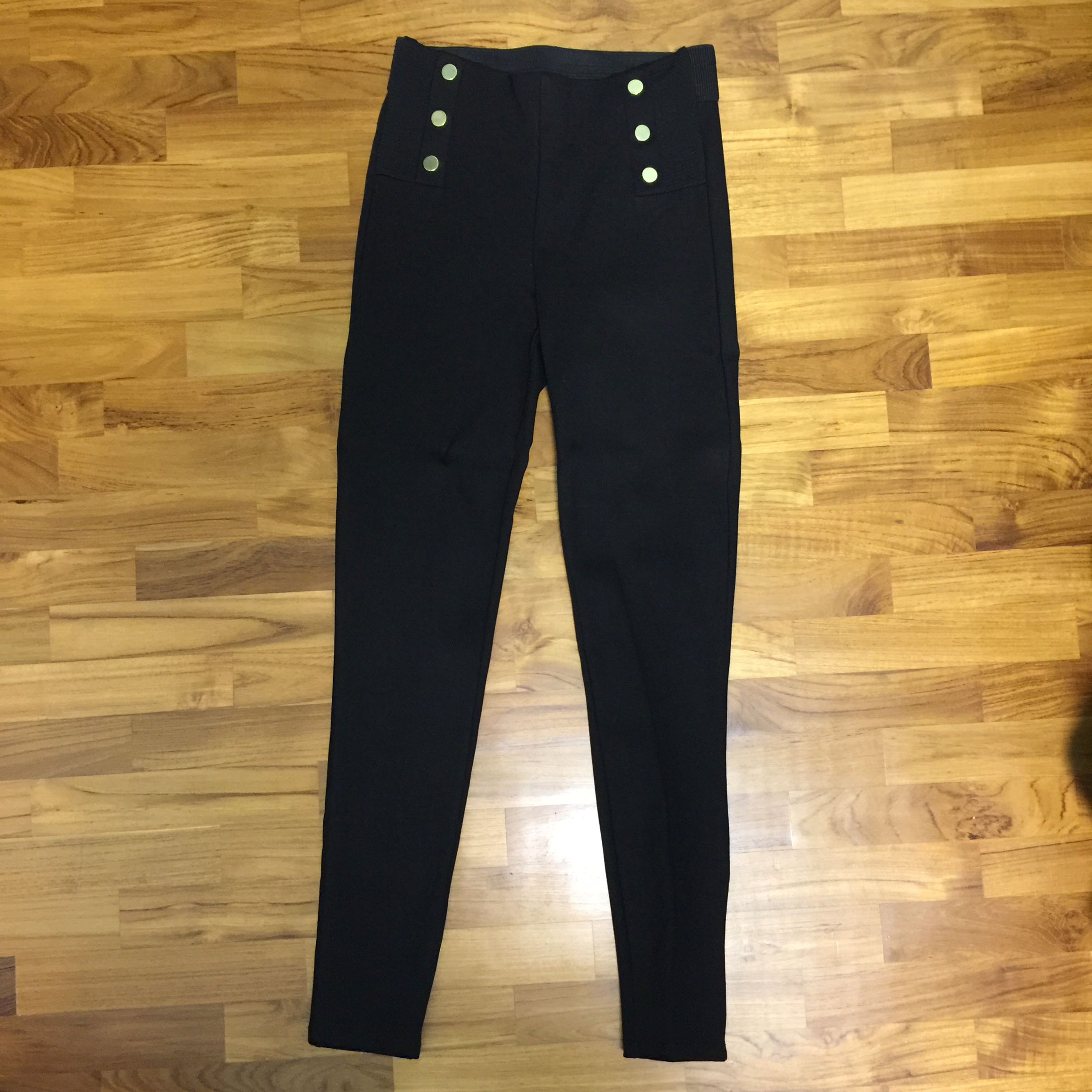 5ade8b99 Zara basic collection size s skinny black stretchy pants, Women's ...