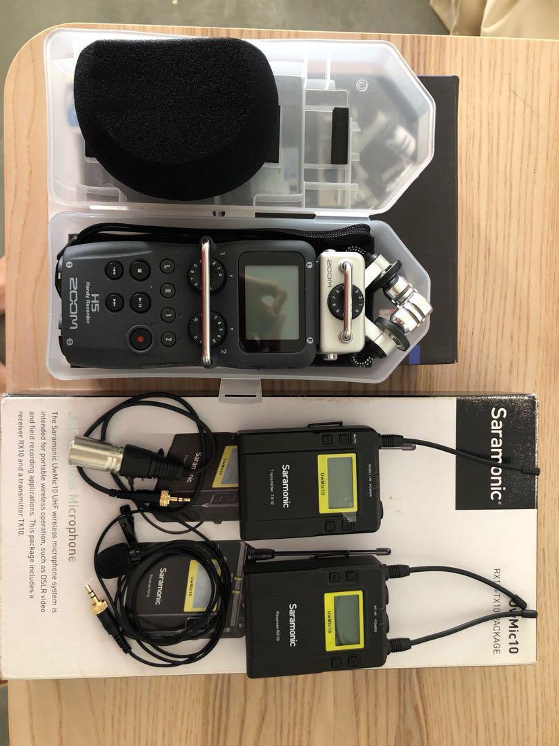 Zoom H5 Saramoni RX10 +TX10 wireless microphone, Photography